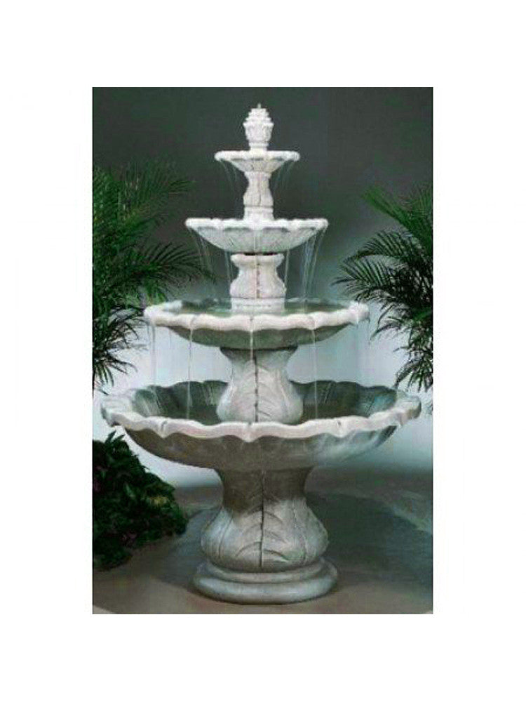Classical Four Tier Finial Outdoor Water Fountain - SoothingWalls