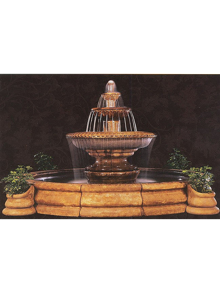 Grande Palazzo Fluted Outdoor Water Fountain - Soothing Walls