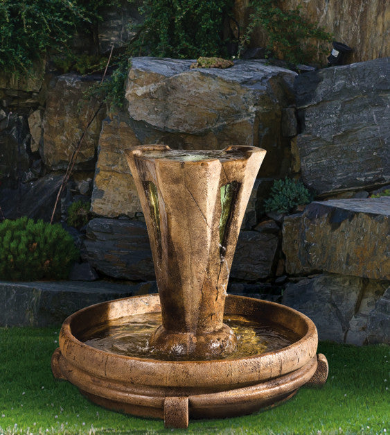 Small Vesuvio Garden Fountain - Soothing Walls