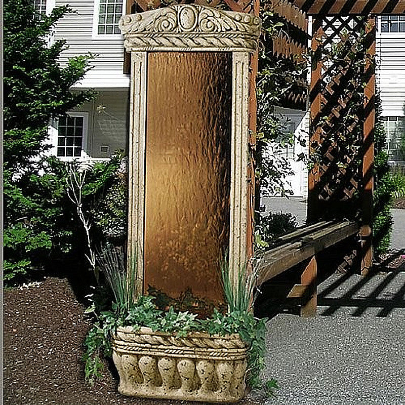 6' Watergarden with Bronze Mirror Floor Fountain - SoothingWalls