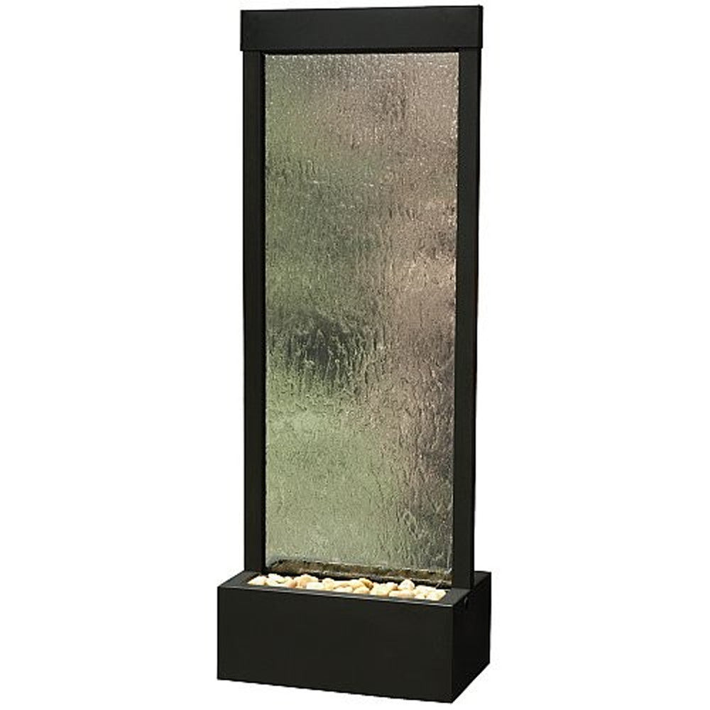 4' Black Onyx Gardenfall Floor Water Fountain - SoothingWalls