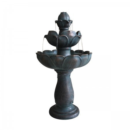 3-Tier Lotus Garden Water Fountain - SoothingWalls