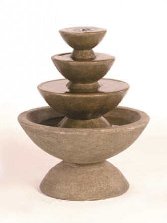 4-Tier Color Bowl Fountain - Soothing Walls