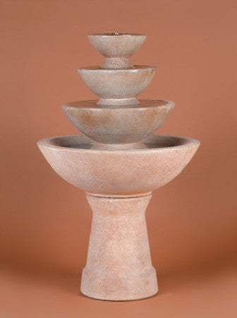 4-Tier Tall Color Bowl - Tall Fountain - Soothing Walls