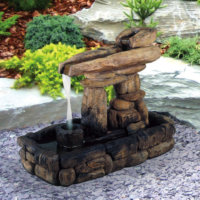 Inukshuk Guide Rock Garden Fountain - Soothing Walls