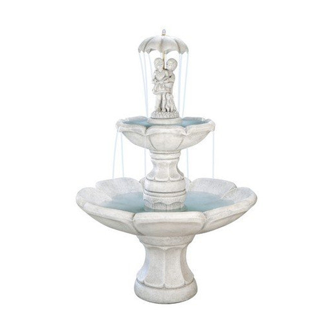 April Showers Tiered Garden Fountain - SoothingWalls