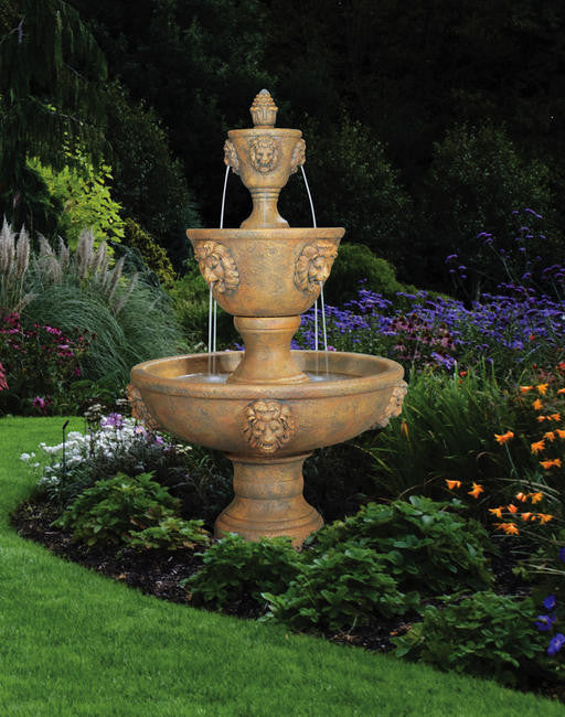 Large Three-tier Leonesco Outdoor Fountain - Soothing Walls
