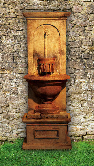 Vivanda Flat Wall Outdoor Fountain - Soothing Walls