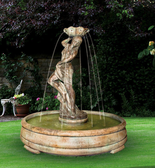 Lorelei Outdoor Fountain in Grando Pool - Soothing Walls