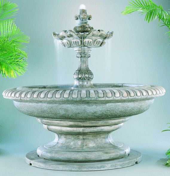 Grande Palazzo Fleur de Lys Outdoor Fountain - Soothing Walls