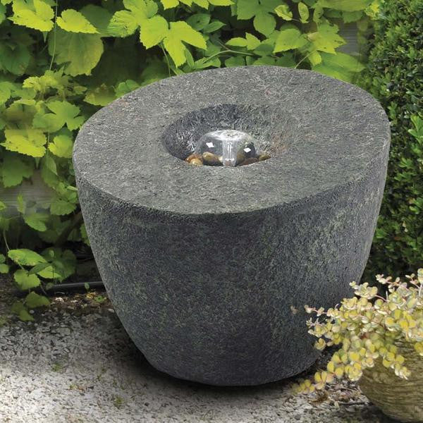Magma Natural Rock Outdoor Floor Fountain - Soothing Walls