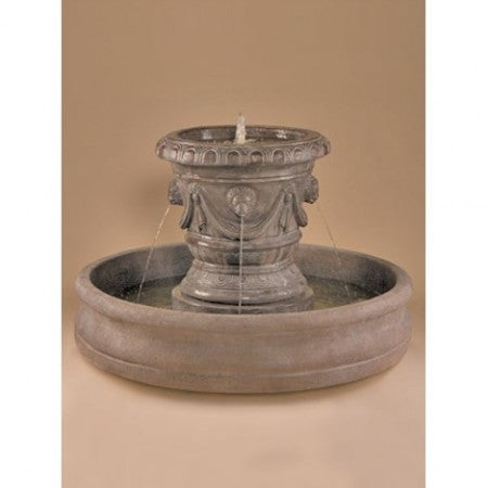 Classico Pot with Lion Heads Fountain - SoothingWalls