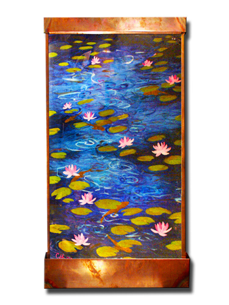 8' x 4' Reflecting Pond Wall Fountain - SoothingWalls