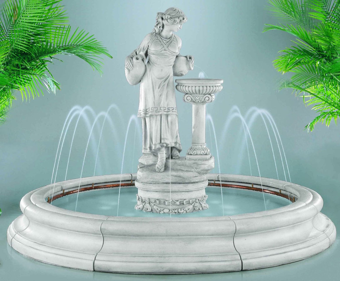 Angella Outdoor Fountain in Toscana Pool - SoothingWalls