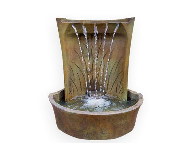 Aria Cast Stone Outdoor Fountain - Soothing Walls