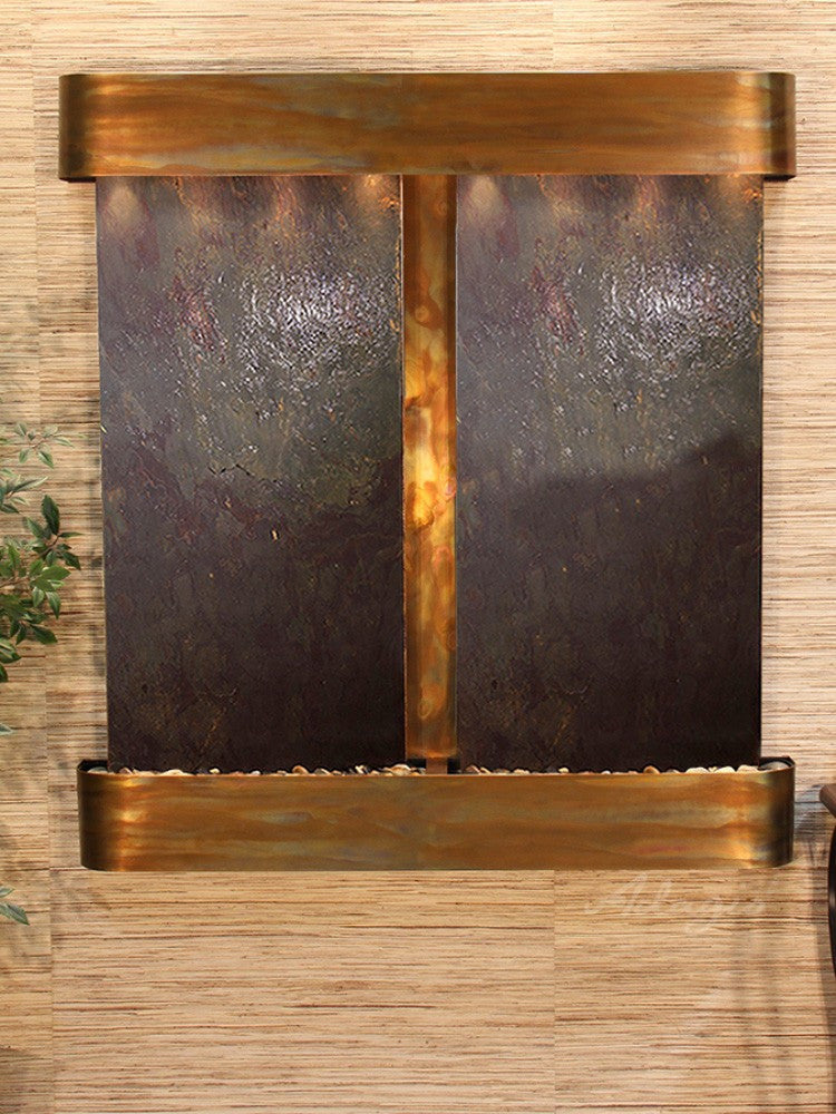 Aspen Falls: Multi-Color FeatherStone and Rustic Copper Trim with Rounded Corners