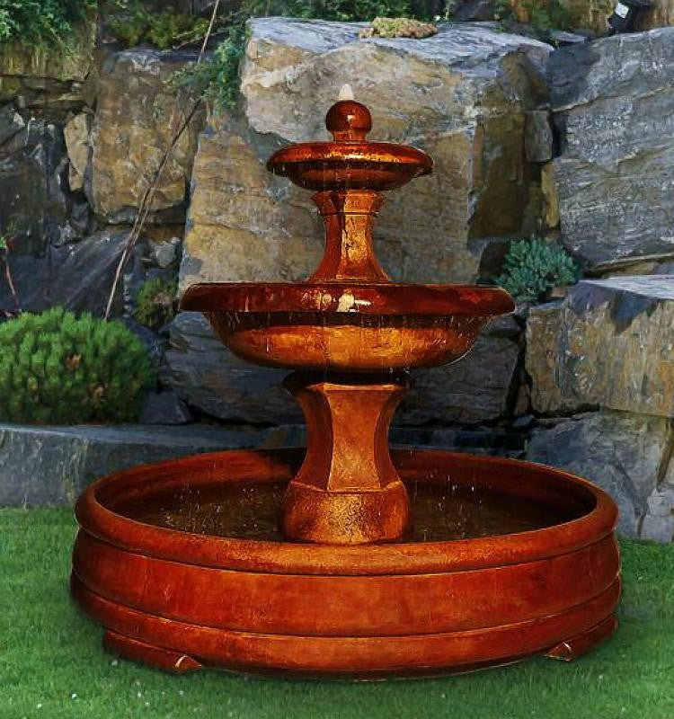 Barrington Outdoor Water Fountain in Grando Pool - SoothingWalls