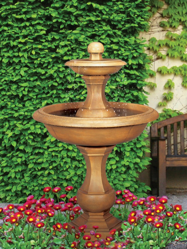 Barrington Two Tier Garden Fountain - Soothing Walls