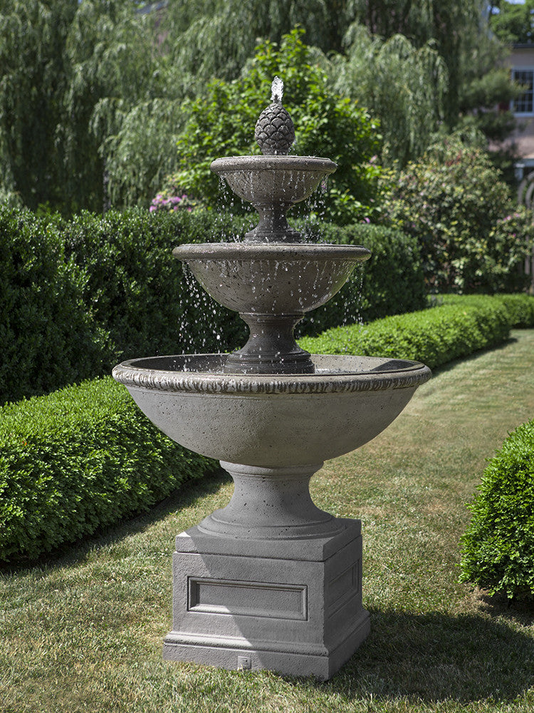 Beauport Tiered Outdoor Water Fountain   Soothing Walls