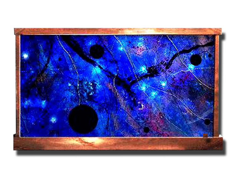 Black Holes Abstract Galaxy Fountain - Soothing Walls