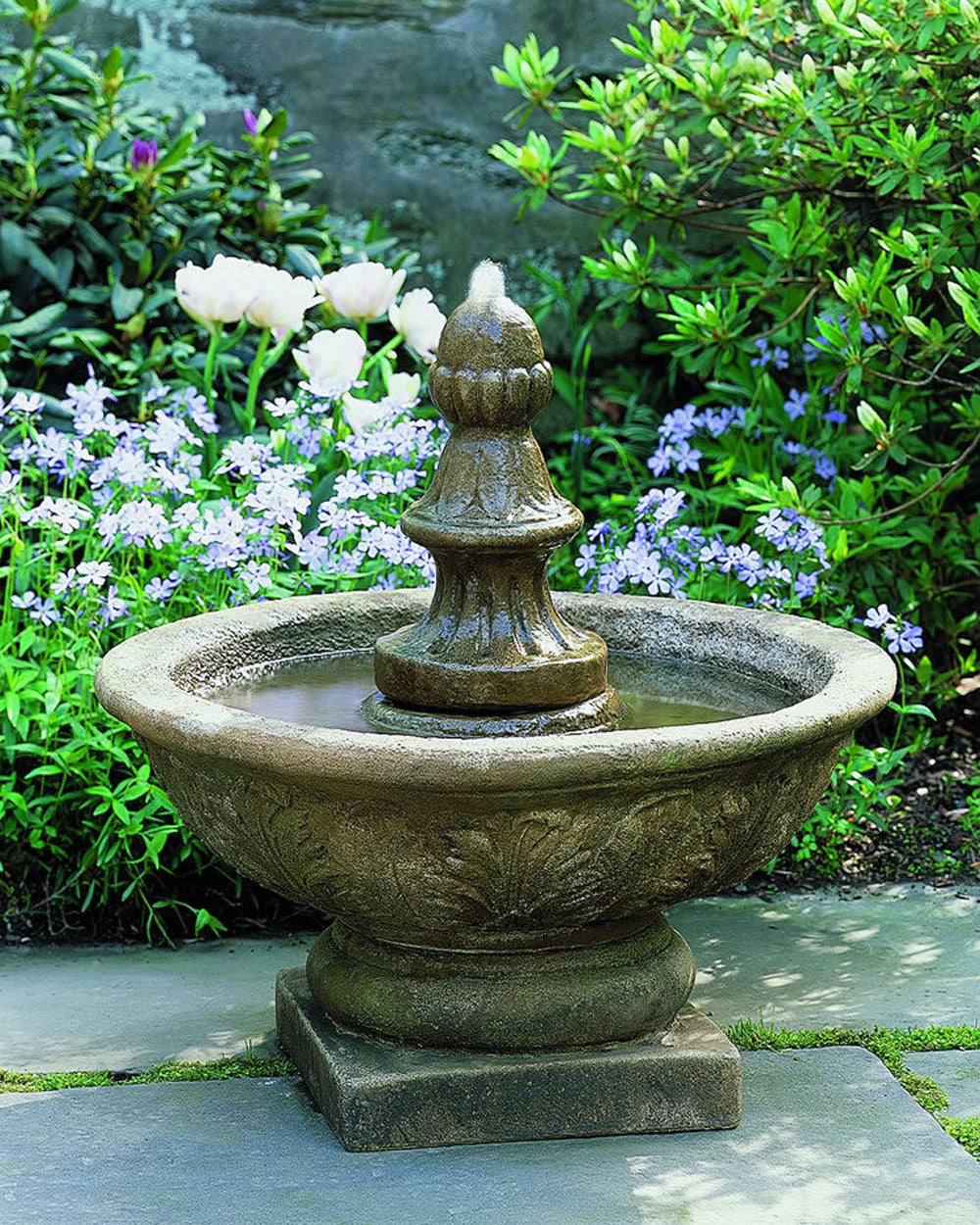 Bordine Finial Outdoor Fountain - SoothingWalls