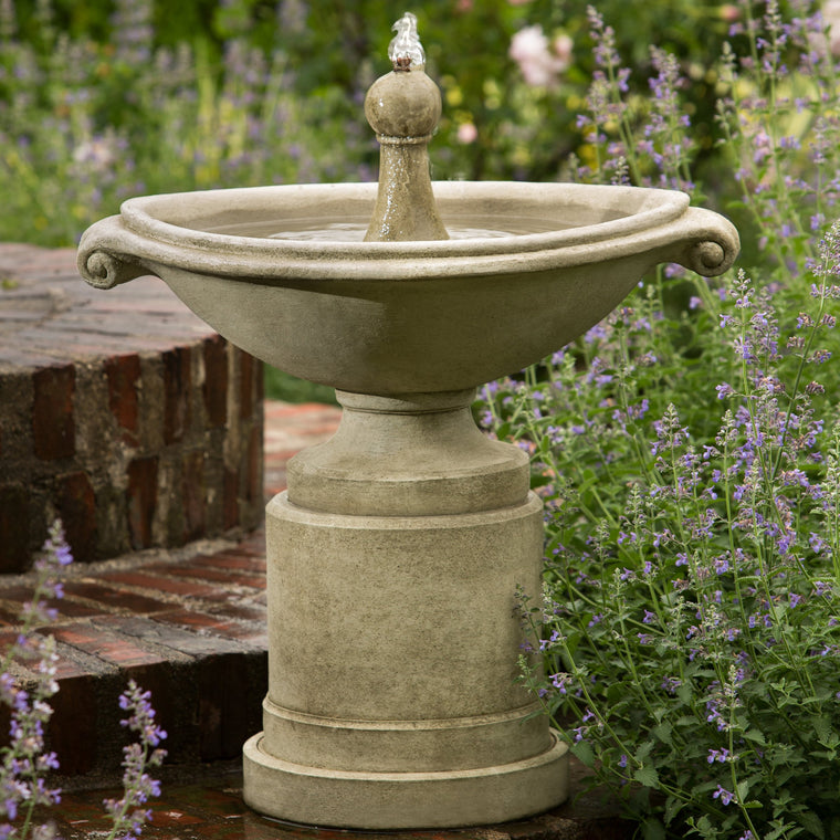 Borghese Outdoor Garden Fountain - Soothing Walls