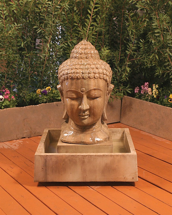 Buddha Head Water Fountain - SoothingWalls