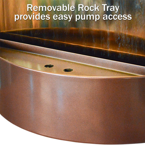 Contempo Alto Solare Dark Copper and Bronze Mirror Wall Fountain - Soothing Walls