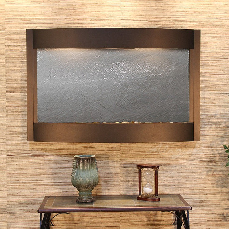 Calming Waters - Black FeatherStone - Antique Bronze - Soothing Walls
