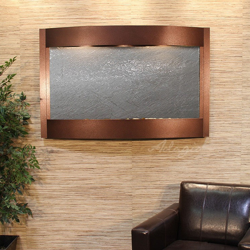 Calming Waters - Black FeatherStone - Copper Vein - Soothing Walls