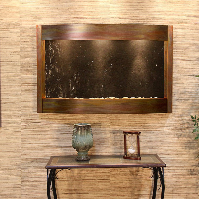 Calming Waters - Black FeatherStone - Rustic Copper - Soothing Walls