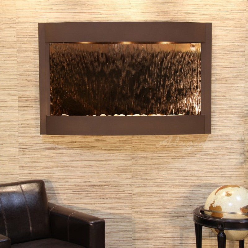 Calming Waters - Bronze Mirror - Woodland Brown - Soothing Walls
