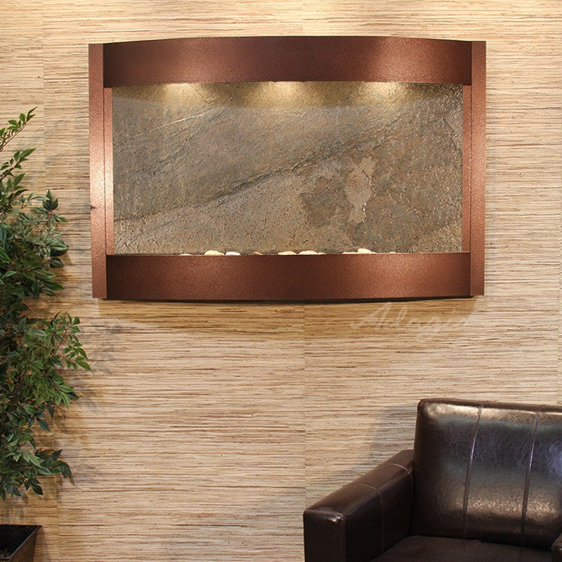 Calming Waters - Green FeatherStone - Copper Vein - Soothing Walls