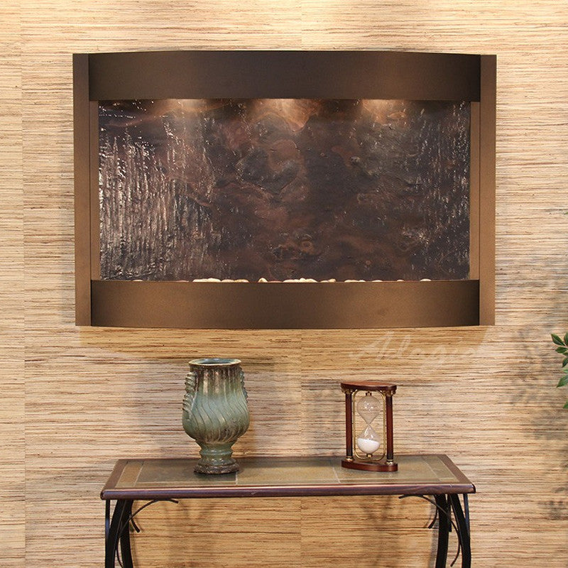 Calming Waters - Multi-Color FeatherStone - Antique Bronze - Soothing Walls