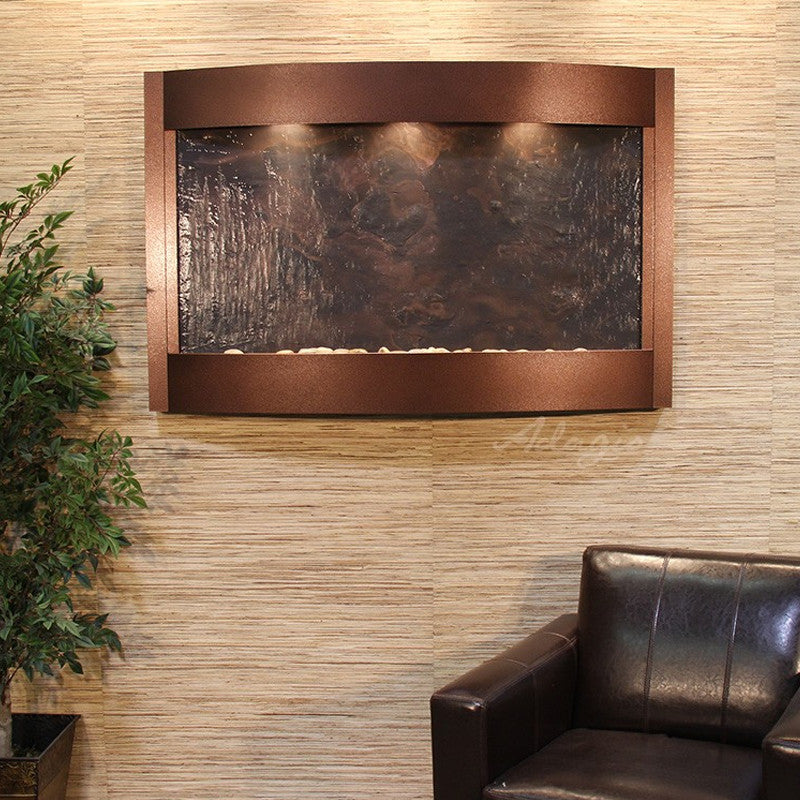 Calming Waters - Multi-Color FeatherStone - Copper Vein - Soothing Walls