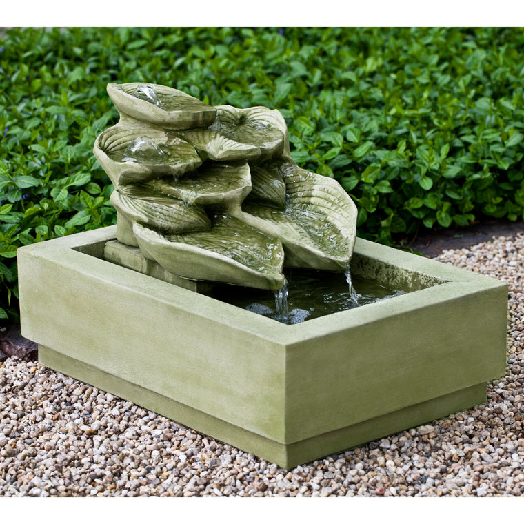 Cascading Hosta Garden Water Fountain - SoothingWalls