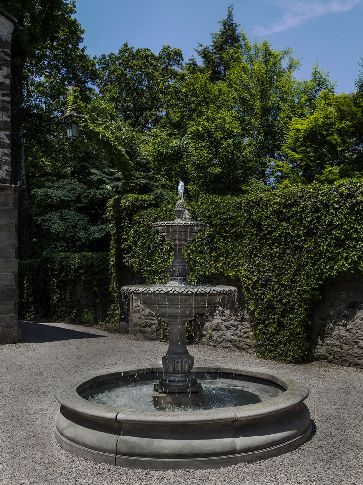 Charleston Outdoor Water Fountain with Basin - Soothing Walls