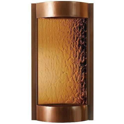 Contempo Alto Solare Dark Copper and Bronze Mirror Wall Fountain - SoothingWalls