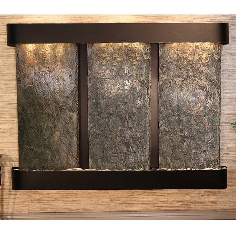 Deep Creek Falls: Green Slate and Blackened Copper Trim with Rounded Corners