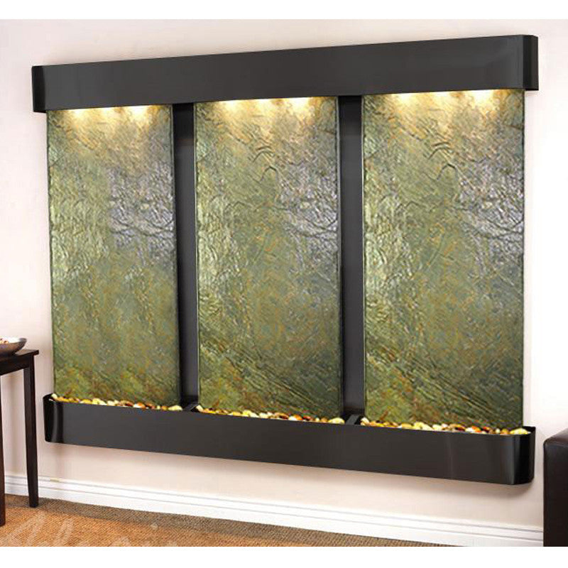 Deep Creek - Green Slate - Blackened Copper - Rounded Corners - Soothing Walls