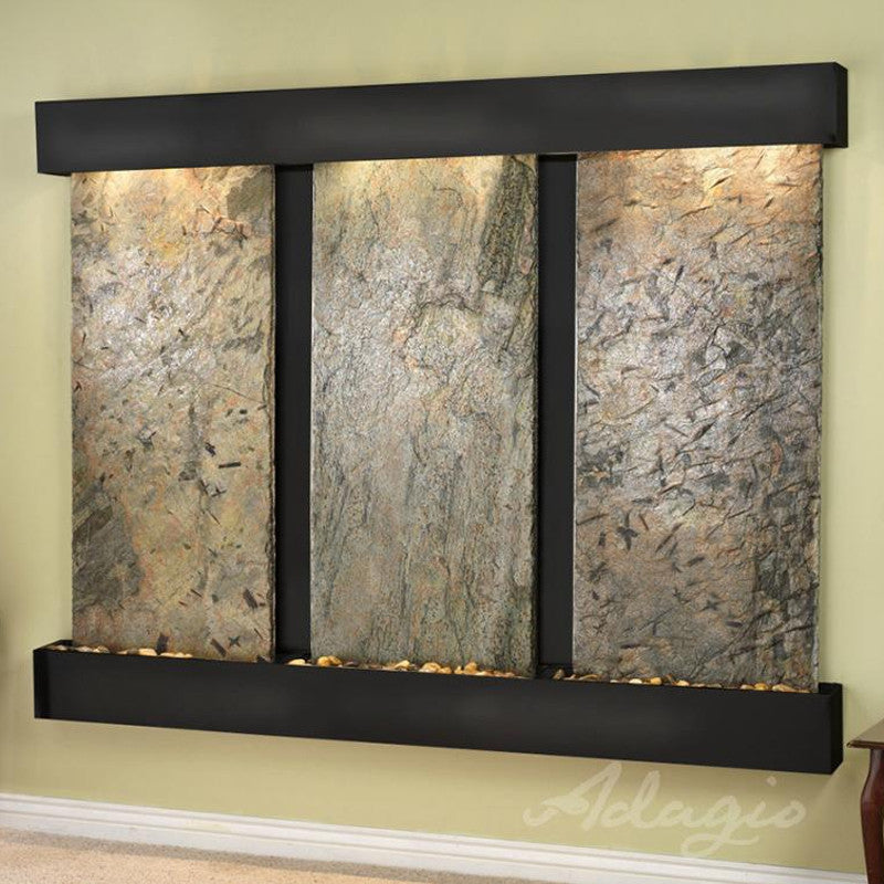 Deep Creek Falls: Green Slate and Blackened Copper Trim with Squared Corners