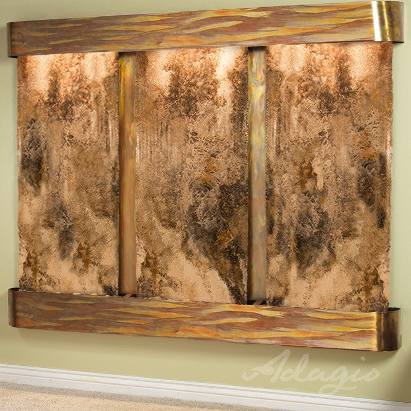 Deep Creek - Magnifico Travertine - Rustic Copper - Rounded Corners - Soothing Walls