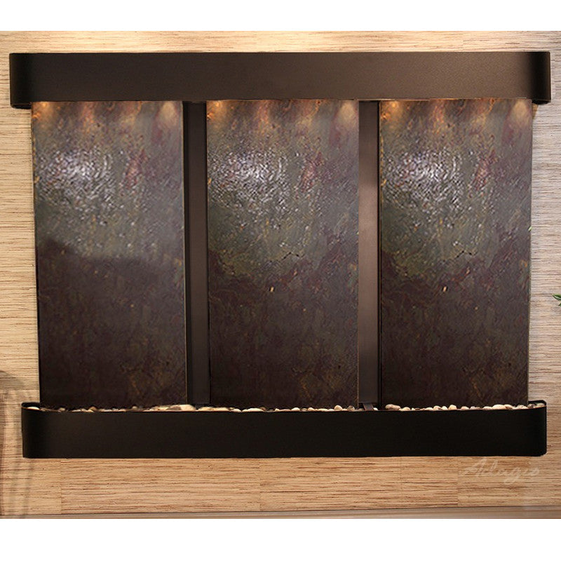 Deep Creek Falls: Multi-Color Featherstone and Blackened Copper Trim with Rounded Corners