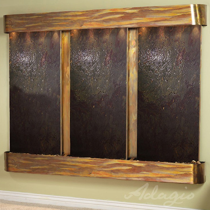 Deep Creek - Multi-Color FeatherStone - Rustic Copper - Rounded Corners - Soothing Walls