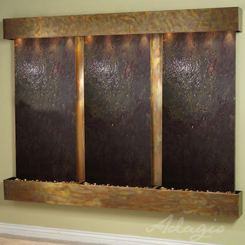 Deep Creek Falls: Multi-Color Featherstone and Rustic Copper Trim with Squared Corners