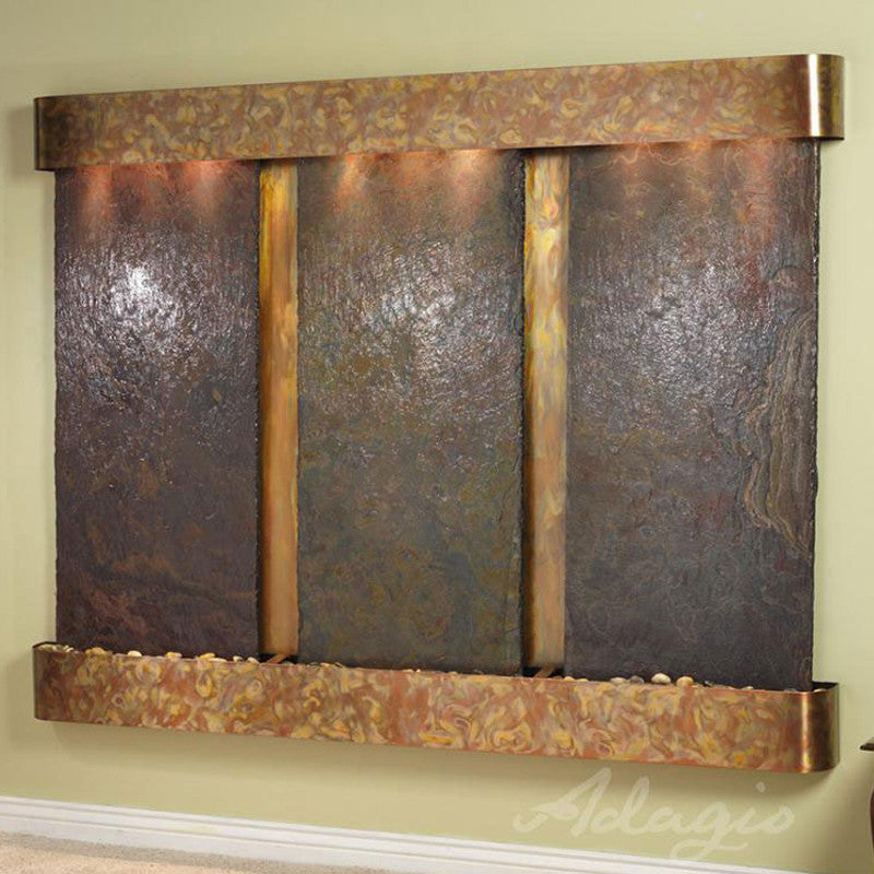 Deep Creek Falls: Multi-Color Slate and Rustic Copper Trim with Rounded Corners