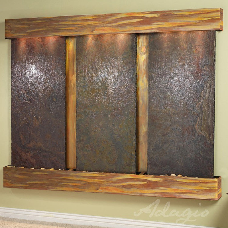 Deep Creek - Multi-Color Slate - Rustic Copper - Squared Corners - Soothing Walls
