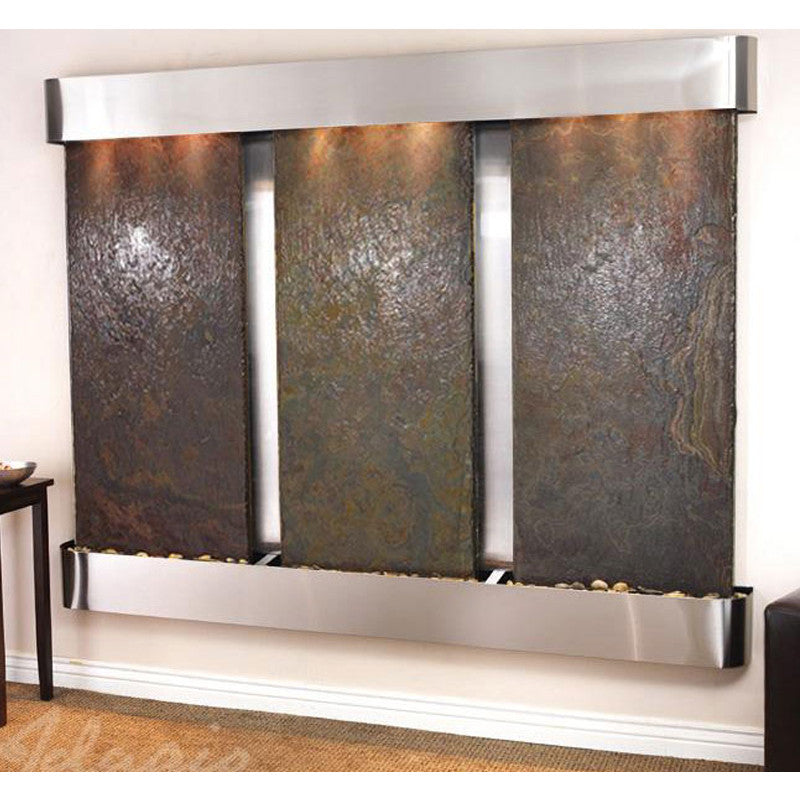 Deep Creek - Multi-Color Slate - Stainless Steel - Rounded Corners - Soothing Walls
