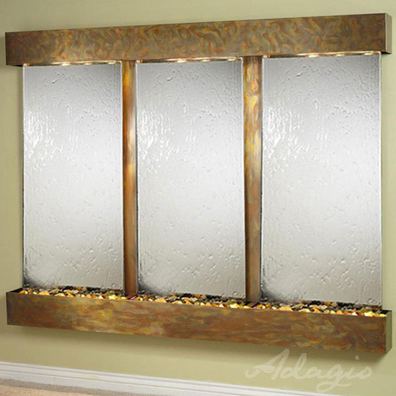Deep Creek - Silver Mirror - Rustic Copper - Squared Corners - Soothing Walls