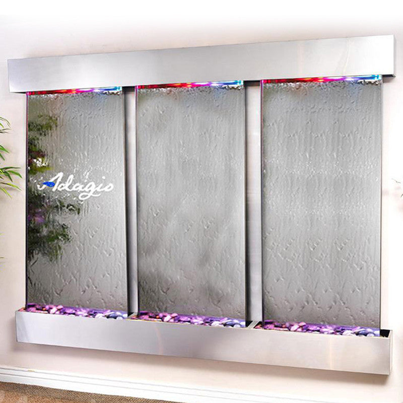 Deep Creek - Silver Mirror - Stainless Steel - Squared Corners - Soothing Walls